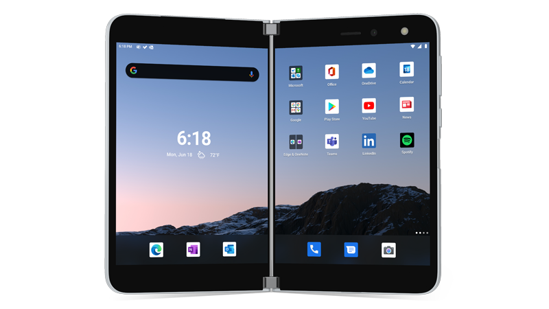 Surface Duo eszköz képe