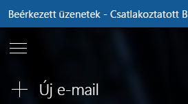 Új üzenet kezdése az Új e-mail gomb kiválasztásával