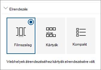 Webhelyek kijelző elrendezési beállításai