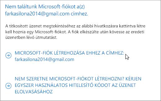 Microsoft-fiók létrehozása