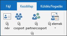 Hozzon létre egy új névjegyet az új partner kijelölése