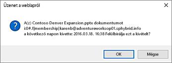 képernyőkép egy másik felhasználó fájlja beadásakor megjelenő figyelmeztetésről