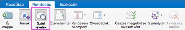 A Szűrt levelek funkcióval rendezetten tarthatja e-mailjeit