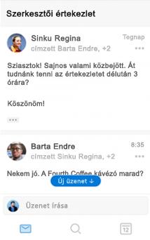 A beszélgetések új felülete az iOS Outlookban