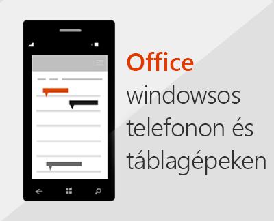 Office-mobilappok Windows Phone-telefonon