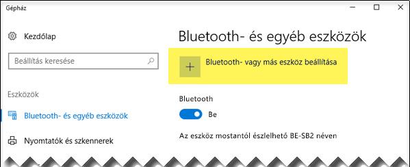 Bluetooth-eszköz beállítása