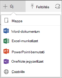 Office 365 – Új mappa vagy dokumentum létrehozása