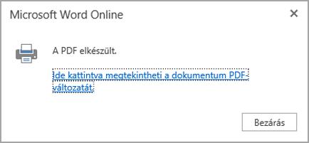A PDF megjelenítése kattintással