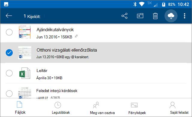 OneDrive – Online állapot megőrzése