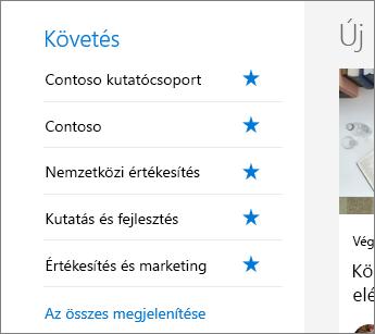 Követés a SharePoint Office 365-ben