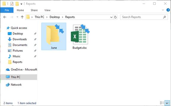 Icons of compressed files