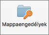 Mac mappa engedélyek gomb az Outlook 2016-ban