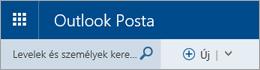 Az Outlook Posta menüsora