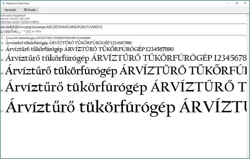 A Windows Font Previewerrel megtekintheti és telepítheti a betűtípusokat Windows rendszerű számítógépére
