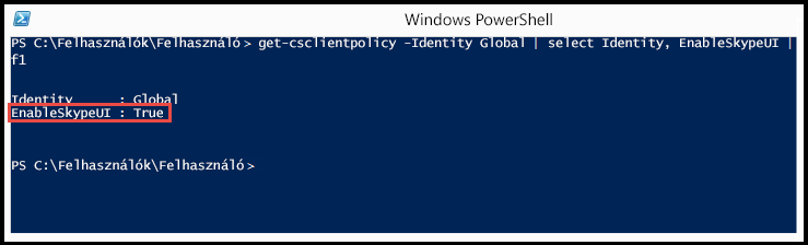 A PowerShell: SkypeUIEnabled