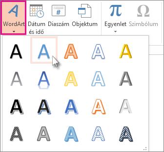 WordArt-stílusok