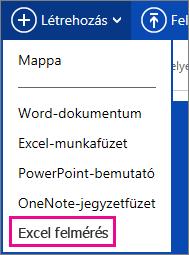 Excel-felmérés létrehozása