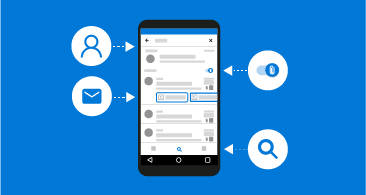 Telefon, rajta 4, különféle elérhető információkat jelölő ikon