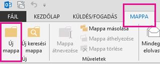 A Mappa lapon kattintson az Új mappa gombra.