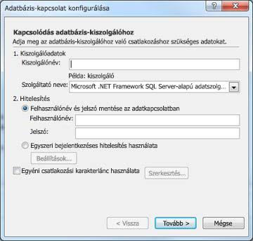 Configure Database Connection dialog box