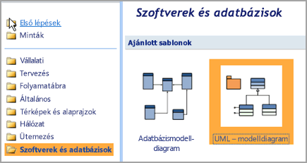 Jelölje ki a szoftverek és -adatbázis