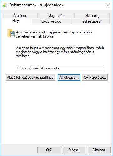 Documents folder properties settings_C3_201795133936
