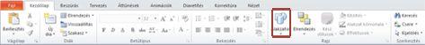 A Kezdőlap lap Alakzatok gombja kiemelve a PowerPoint 2010 alkalmazásban