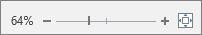 A szöveg nagyítására és kicsinyítésére használható nagyítási csúszka.