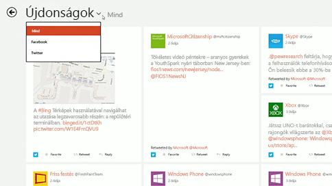 A közösségi hálózat értesítéseinek megjelenítését bemutató új szakasz