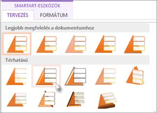 SmartArt-stílus alkalmazása