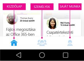 Az Android Delve főmenüje
