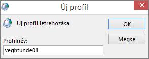 Új Outlook-profil beállítása szabojanos felhasználóhoz