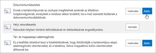 Példák a SharePointhoz bekapcsolható webhelycsoport-szolgáltatásokra