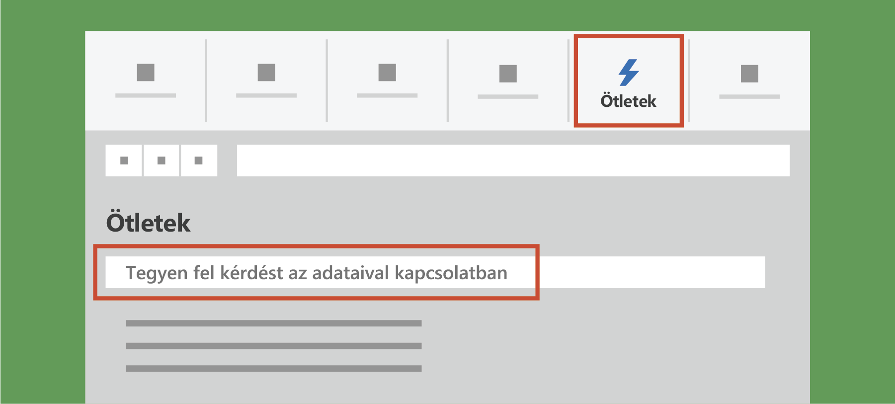 Ötletek megjelenítése az Excelben