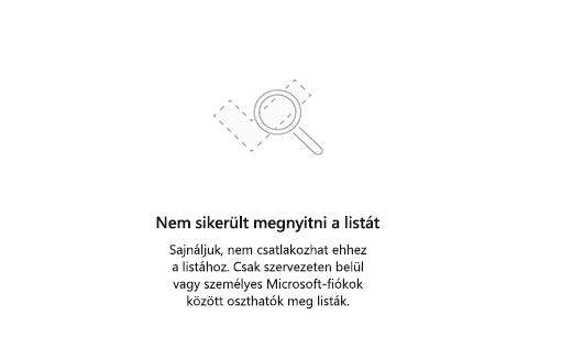 Képernyőkép: a hibaüzenet lista nem érhető el