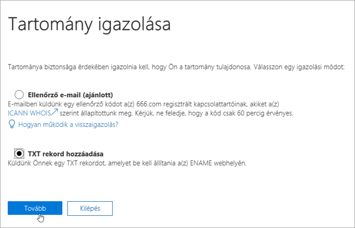 Office 365 Add a TXT record instead_C3_2017526172713
