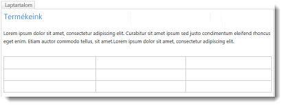 Táblázat SharePoint Online-webhelyen