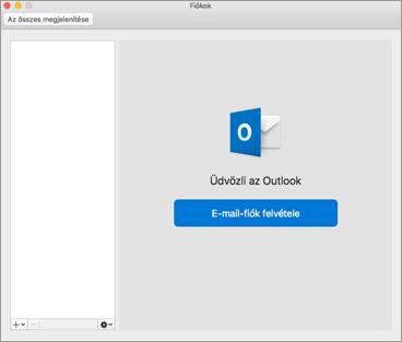 E-mail fiók hozzáadása