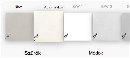A képvizsgálatok szűrési beállításai iOS OneDrive-ban