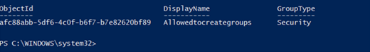 Csoportadatok az Azure AD PowerShellből