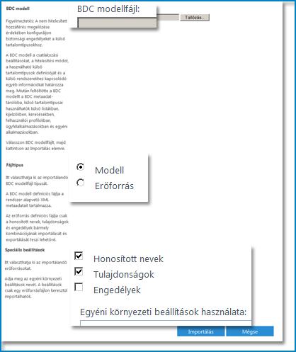 A BDC modell nézet