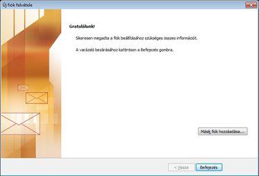 Fiók konfigurálásáról szóló értesítés
