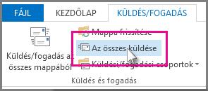 Az összes küldése gomb az Outlook 2013-ban