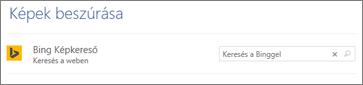 A Bing képkereső mezője