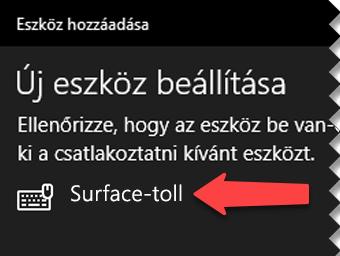 A digitális tollat választva tudassa a Windows rendszerrel, hogy csatlakoztatni szeretné Bluetooth-on keresztül a számítógéphez