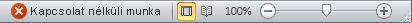Offline munka állapotú Outlook-állapotsor