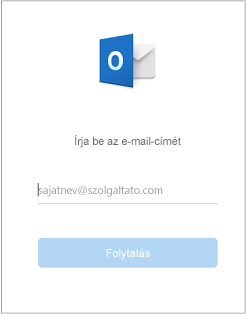 Az első megjelenő képernyőn meg kell adnia az e-mail-címét