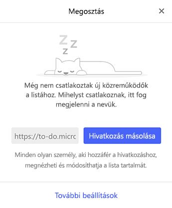 Képernyőkép a Megosztás menüről
