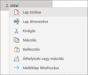 Lap eltávolítása a Windows 10 OneNote appban