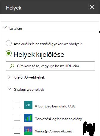 Webhelyek kijelző beállításai